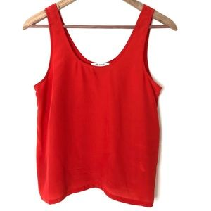 Madewell Red Silk Tank Top Blouse Size XS